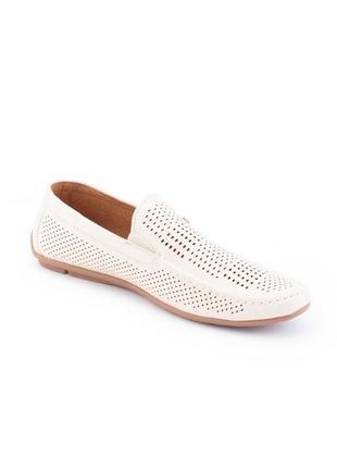 Мужские бежевые туфли из эко-кожи3 фото