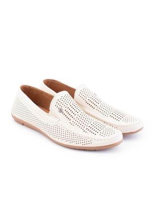 Мужские бежевые туфли из эко-кожи4 фото