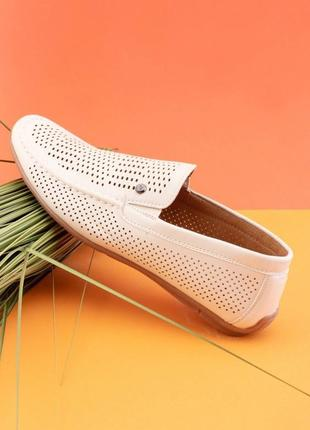Мужские бежевые туфли из эко-кожи5 фото