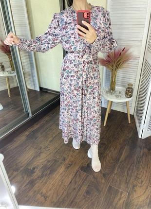 Шикарное винтажное платье миди вінтаж вінтажна сукня міді миди под пояс