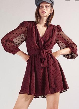Нарядное эффектное платье zara