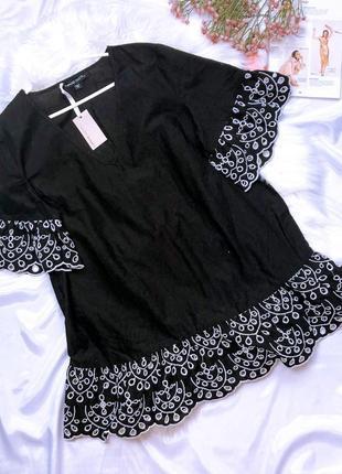 Шикарная новая блуза с вышивкой capsule 46/3xl/54 48/4xl/56
