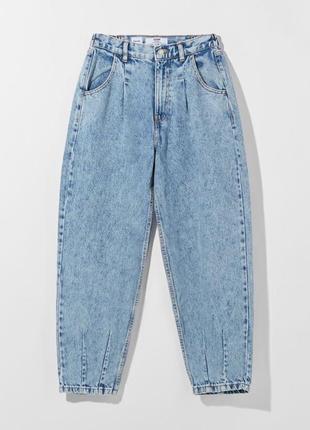 Джинсы женские с высокой посадкой bershka 34/s. джинси жіночі bershka. джинси balloon fit