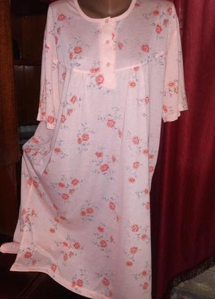 Симпатичное домашнее платье,ночная рубашка 54/62+
