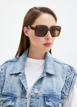Большие солнцезащитные очки манго, квадратные