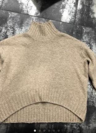 Нюдовый свитер , h&am, в составе шерсть, альпака,оверсайз!