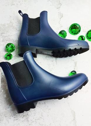 Amazon оригинал синие резиновые ботинки челси