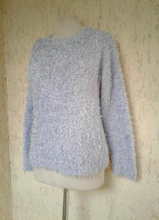 Голубой свитер травка , xxl
