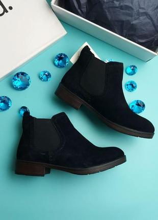 Find. оригинал черные замшевые ботинки челси