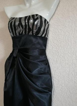 Платье с серебряными и черными пайетками от ruby rox