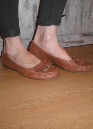 Очень мягкие, удобные балетки мокасины 5th avenue кожа 39 размер
