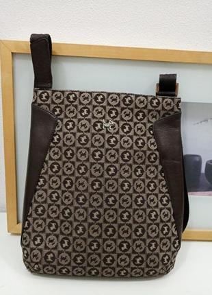 Сумка radley кросс-боди текстиль с кожей