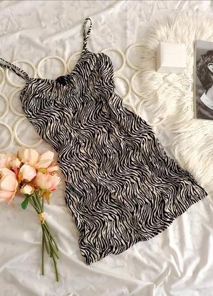 🖤 платье с анималистичным принтом от  shein