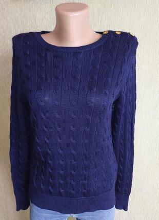 Фирменный свитер пуловер с косами, р.36
