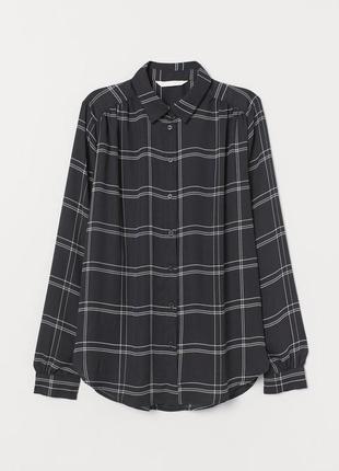 Очень стильная блуза рубашка от h&m рр 16 наш 50