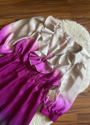 Шёлковое платье размер s м 100% шелк