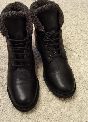 Ботинки кожаные 41 р  clarks женские ботинки зимние кожаные