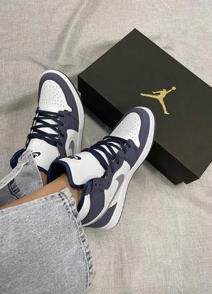 Стильные женские кроссовки кеды высокие nike air jordan кожаные найк джордан
