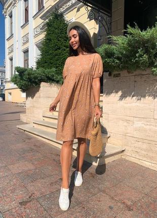 Платье женское летнее мини короткое батал легкое свободное оверсайз