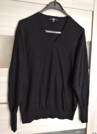 ❤️шкрстяной пуловер джемпер кофта свитер гольф uniqlo размер m