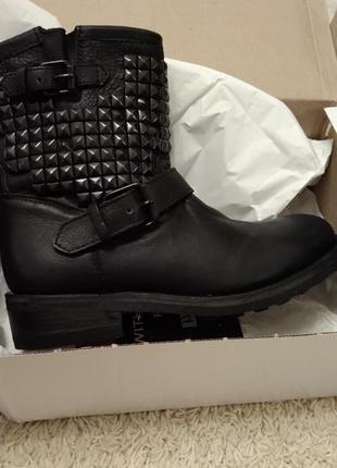 Ботинки сапоги женские 40(10) ash кожаные