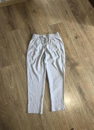Льняные штаны джоггеры calvin klein