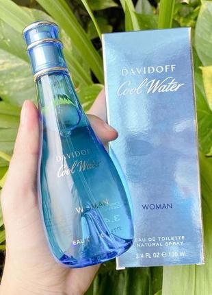 Davidoff cool water woman оригинал_eau de toilette 10 мл затест распив отливанты