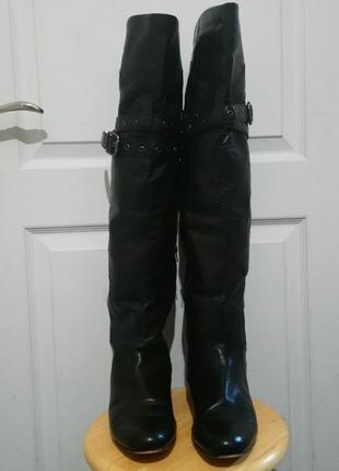 Высокие сапоги , ботфорты, кожа, размер 7