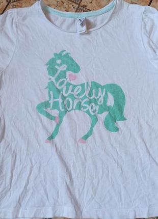 Футболка с лошадью, конный спорт