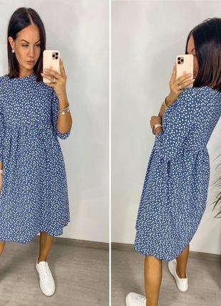 Платье женское летнее миди длинное батал легкое свободное оверсайз