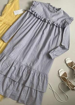 Красивейшее хлопковое платье миди stena nora