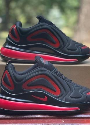 Мужские кроссовки black - red