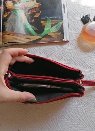 Кошелёк, портмане, красный3 фото