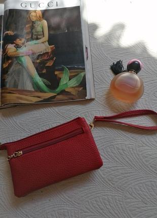 Кошелёк, портмане, красный1 фото