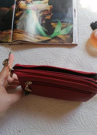 Кошелёк, портмане, красный2 фото