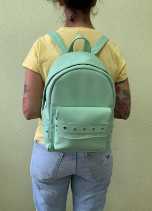 Распродажа /sale/скидка женский стильный  рюкзак для прогулки летом в цвете мята