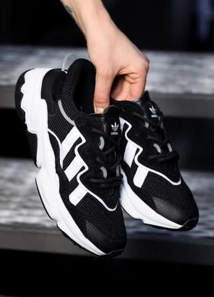 Кроссовки женские adidas ozweego black/white