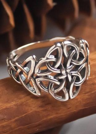 Серебряное кольцо кельтский узел