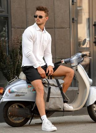 Мега стильный серый мужской рюкзак ролл топ4 фото