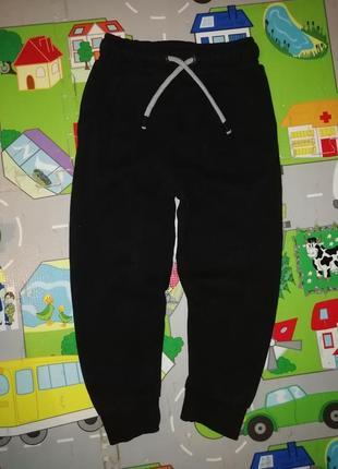 Спортивные штаны брюки на мальчика чёрные утеплённые