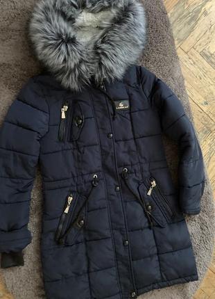 Стеганое пальто-пуховик