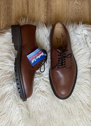 Alfred sargent новые натур. кожаные водонепроницаемые туфли дерби оксфорды на тракторной подошве