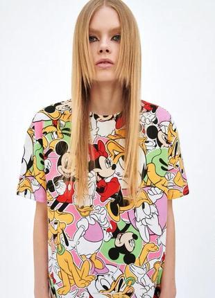 Оверсайз платье микки &co размер с zara disney оригинал новая коллекция