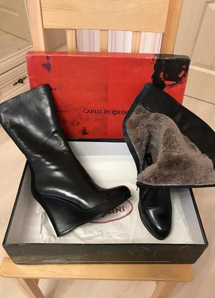 Carlo pazolini кожаные зимние ботинки, сапоги.