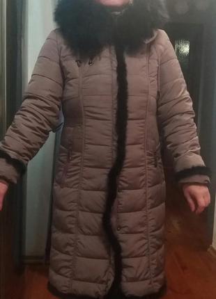 Зимний пуховик 46-48 размера торг.