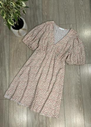 Платье в мелкий  цветочек 100% вискоза