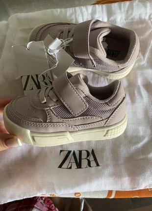 Легкие детские кеды кроссовки на липучке zara