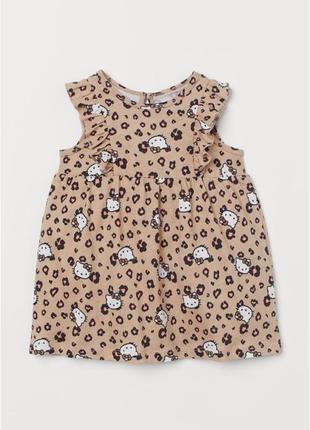 Очаровательные платья h&m для девочек hello kitty
