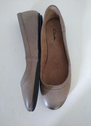 Туфлі балетки нубук clarks.