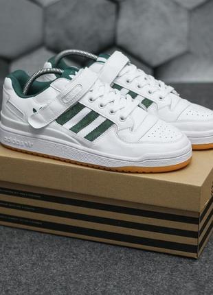 Мужские кроссовки демисезонные adidas белые кожаные адидас